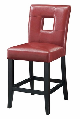 Newbridge Counter Stool Red Cushion - Set of 2 - 103619RED