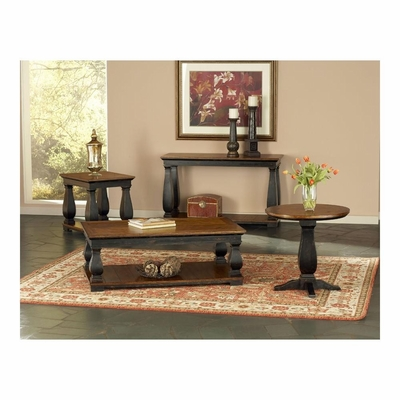 Newbury Accent Table Set 4 Piece Antique Black / Cherry - Largo - LARGO-WG-T557-SET