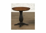 Newbury Round Pedestal End Table Antique Black / Cherry - Largo - LARGO-ST-T557-124