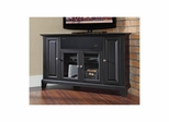 "Newport 48"" Corner AroundSound TV Stand in Black - CROSLEY-KF1006CASBK"