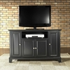 "Newport 48"" TV Stand in Black Finish - Crosley Furniture - KF10002CBK"