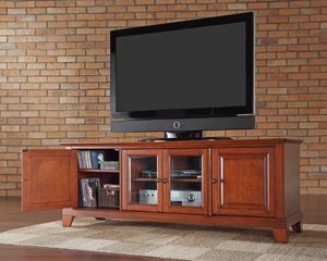 "Newport 60"" Low Profile TV Stand in Classic Cherry - CROSLEY-KF10005CCH"