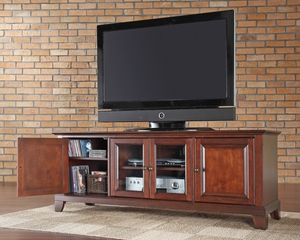 "Newport 60"" Low Profile TV Stand in Vintage Mahogany - CROSLEY-KF10005CMA"