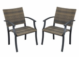 Newport Arm Chair (Set of 2) in Black / Brown - Home Styles - 5600-812
