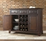 Newport Buffet Server / Sideboard Cabinet with Wine Storage in Vintage Mahogany Finish - Crosley Furniture - KF42001CMA