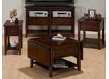 Newport Cherry 4PC Livingroom Table Set - 354-1