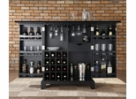 Newport Expandable Bar Cabinet in Black Finish - Crosley Furniture - KF40001CBK