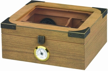 Newport Glass top Small Cigar Humidor - HUM-25WO
