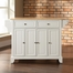 Newport Natural Wood Top Kitchen Island in White Finish - Crosley Furniture - KF30001CWH