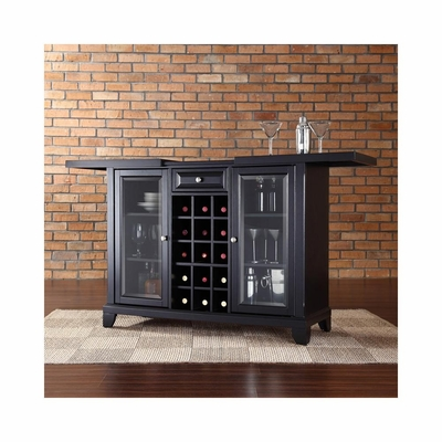 Newport Sliding Top Bar Cabinet in Black - CROSLEY-KF40002CBK
