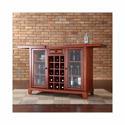 Newport Sliding Top Bar Cabinet in Classic Cherry - CROSLEY-KF40002CCH
