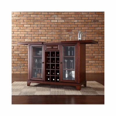 Newport Sliding Top Bar Cabinet in Vintage Mahogany - CROSLEY-KF40002CMA