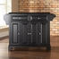 Newport Solid Black Granite Top Kitchen Island in Black Finish - Crosley Furniture - KF30004CBK
