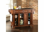 Newport Solid Black Granite Top Kitchen Island in Classic Cherry Finish - Crosley Furniture - KF30004CCH