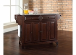 Newport Solid Granite Top Kitchen Island in Vintage Mahogany - CROSLEY-KF30003CMA