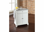 Newport Solid Granite Top Portable Kitchen Island in White - CROSLEY-KF30023CWH