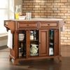 Newport Stainless Steel Top Kitchen Island in Classic Cherry Finish - Crosley Furniture - KF30002CCH
