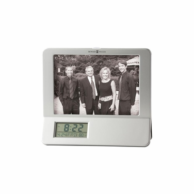 Newton Table Top Clock with Photo Frame - Howard Miller