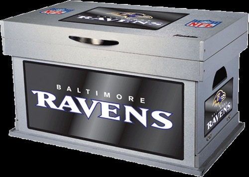 NFL Baltimore Ravens Wood Foot Locker - Franklin Sports