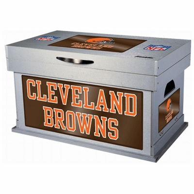 NFL Cleveland Browns Wood Foot Locker - Franklin Sports