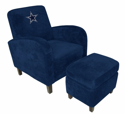 NFL Dallas Cowboys Den Chair with Ottoman - Imperial International - 126612