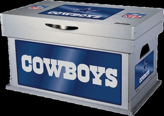 NFL Dallas Cowboys Wood Foot Locker - Franklin Sports