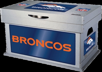 NFL Denver Broncos Wood Foot Locker - Franklin Sports