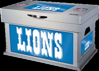 NFL Detroit Lions Wood Foot Locker - Franklin Sports