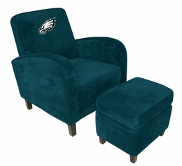 NFL Eagles Den Chair with Ottoman - Imperial International - 126614