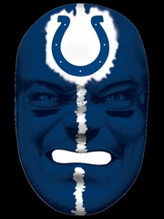 NFL Fan Face Indianapolis Colts - Franklin Sports