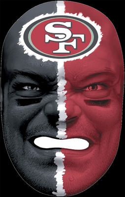 NFL Fan Face San Francisco 49ers - Franklin Sports