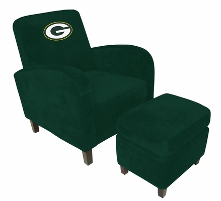 NFL Green Bay Packers Den Chair with Ottoman - Imperial International - 126620