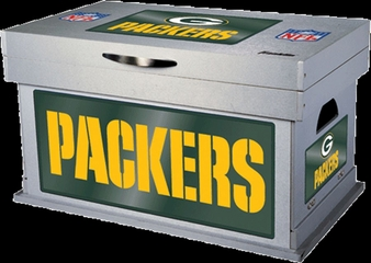 NFL Green Bay Packers Wood Foot Locker - Franklin Sports