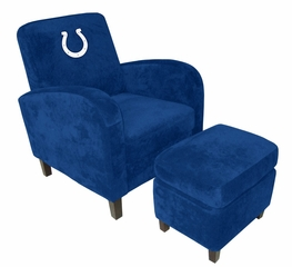 NFL Indianapolis Colts Den Chair with Ottoman - Imperial International - 126611