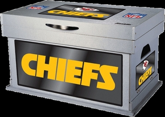 NFL Kansas City Chiefs Wood Foot Locker - Franklin Sports