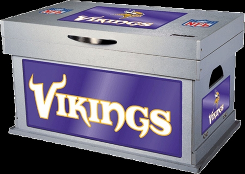NFL Minnesota Vikings Wood Foot Locker - Franklin Sports