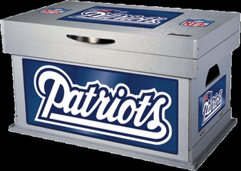 NFL New England Patriots Wood Foot Locker - Franklin Sports