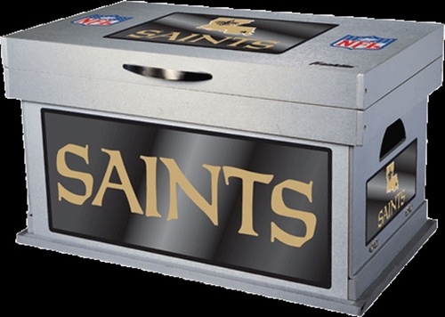 NFL New Orleans Saints Wood Foot Locker - Franklin Sports
