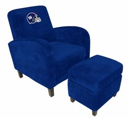 NFL New York Giants Den Chair with Ottoman - Imperial International - 126616