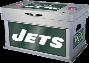 NFL New York Jets Wood Foot Locker - Franklin Sports