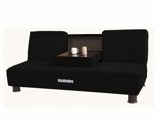 NFL Oakland Raiders Convertible Sofa with Tray - Imperial International - 852623