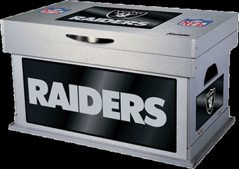 NFL Oakland Raiders Wood Foot Locker - Franklin Sports