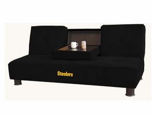 NFL Pittsburgh Steelers Convertible Sofa with Tray - Imperial International - 852629