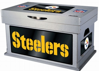 NFL Pittsburgh Steelers Wood Foot Locker - Franklin Sports