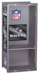 "NFL Ravens 36"" Wood Locker - Franklin Sports"