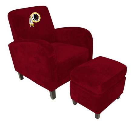 NFL Redskins Den Chair with Ottoman - Imperial International - 126626