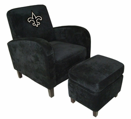 NFL Saints Den Chair with Ottoman - Imperial International - 126627