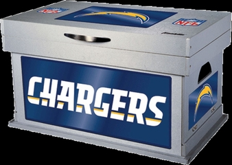 NFL San Diego Chargers Wood Foot Locker - Franklin Sports