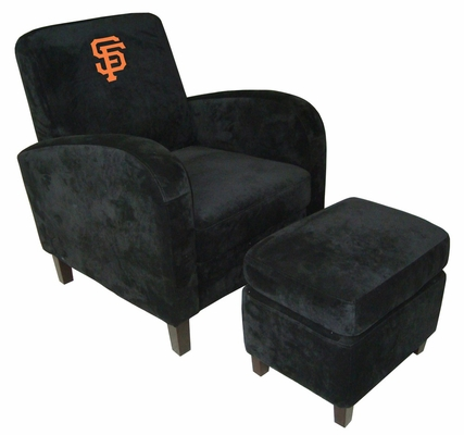 NFL San Francisco Giants Den Chair with Ottoman - Imperial International - 126512