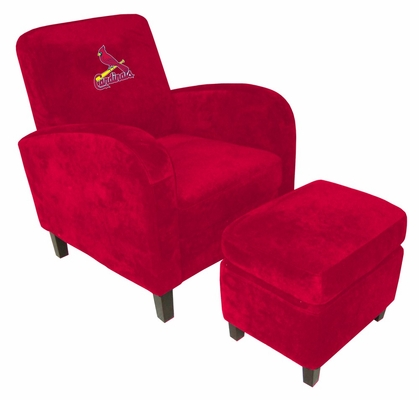 NFL St Louis Cardinals Den Chair with Ottoman - Imperial International - 126507